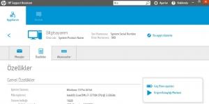 HP Yardım Asistanı Ekran Görüntüsü