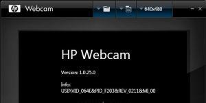 HP Webcam Software Ekran Görüntüsü