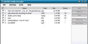 ImTOO Audio Encoder Ekran Görüntüsü