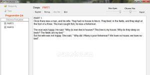 İngilizce Okuyucu Ekran Görüntüsü