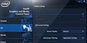Intel Graphics Driver Ekran Görüntüsü