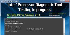 Intel Processor Diagnostic Tool Ekran Görüntüsü
