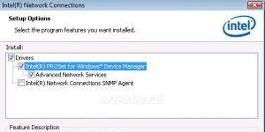 Intel Network Adapter Driver Ekran Görüntüsü