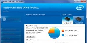 Intel Solid State Drive (SSD) Toolbox Ekran Görüntüsü