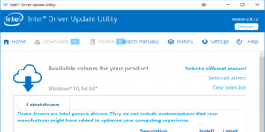 Intel Sürücü ve Destek Yardımcısı Ekran Görüntüsü