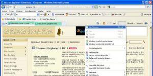 Internet Explorer 8 Ekran Görüntüsü