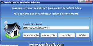 Internet Giriş Sayfası Değiştirme Ekran Görüntüsü