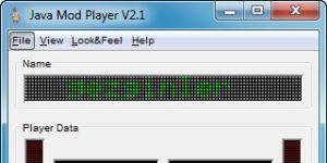 Java Mod Player Ekran Görüntüsü