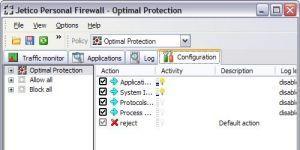 Jetico Personal Firewall Ekran Görüntüsü