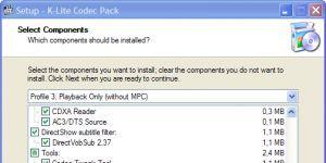 K-Lite Codec Pack Standard Ekran Görüntüsü