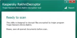 Kaspersky RakhniDecryptor Ekran Görüntüsü