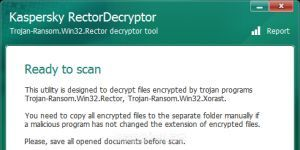 Kaspersky RectorDecryptor Ekran Görüntüsü