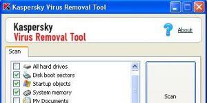 Kaspersky Virus Removal Tool Ekran Görüntüsü