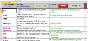 Kelime Excel Ekran Görüntüsü