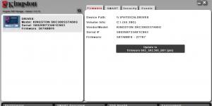 Kingston SSD Manager Ekran Görüntüsü