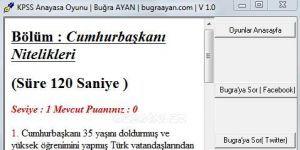 KPSS Anayasa Oyunu Ekran G�r�nt�s�