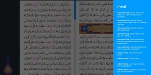 Kur'an-ı Kerim Arapça ve Türkçe Meali Ekran Görüntüsü