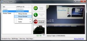 LANPhone Ekran Görüntüsü