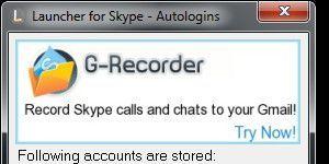 Launcher for Skype Ekran Görüntüsü