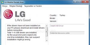 LG Mobile Support Tool  Ekran G�r�nt�s�