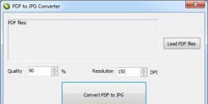 LotApps PDF To JPG Converter Ekran Görüntüsü