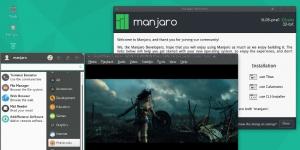 Manjaro Ekran Görüntüsü