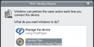 MTP - Medya Aktarım Protokolü Ekran Görüntüsü