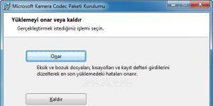 Microsoft Fotoğraf Makinesi Codec Paketi Ekran Görüntüsü