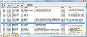 Microsoft Process Monitor Ekran Görüntüsü