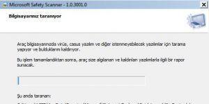 Microsoft Safety Scanner Ekran Görüntüsü