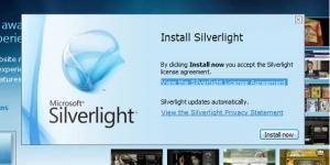 Microsoft Silverlight Ekran Görüntüsü