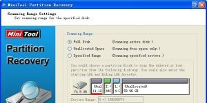 MiniTool Partition Recovery Ekran G�r�nt�s�