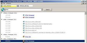 MiTeC Internet History Browser Ekran Görüntüsü