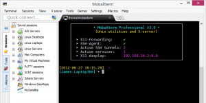 MobaXterm Ekran Görüntüsü