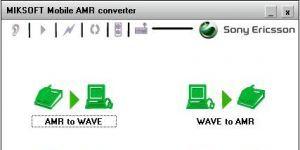 Mobile AMR converter Ekran G�r�nt�s�