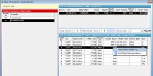 Mobilya Taksitli Satış Stok Müşteri Takip Programı Ekran Görüntüsü