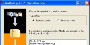 MozBackup Ekran Görüntüsü