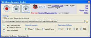 MP3 Skype Recorder Ekran Görüntüsü