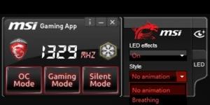 MSI Gaming App Ekran Görüntüsü