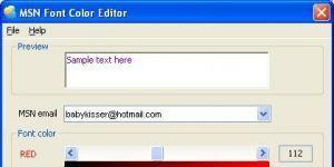 MSN Font Color Editor Ekran Görüntüsü
