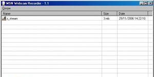 MSN Webcam Recorder Ekran Görüntüsü
