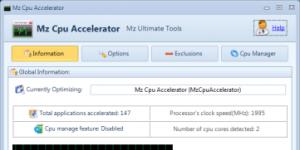 Mz CPU Accelerator Ekran Görüntüsü