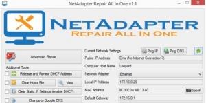 NetAdapter Repair All In One Ekran Görüntüsü