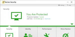 Norton Security Standart Ekran Görüntüsü
