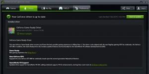 NVIDIA GeForce Driver Notebook Ekran Görüntüsü