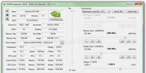 NVIDIA Inspector Ekran Görüntüsü