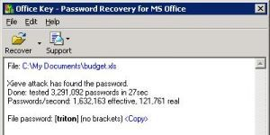 Office Password Recovery Key Ekran G�r�nt�s�