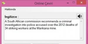 Online Çeviri Ekran Görüntüsü
