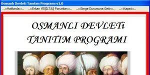 Osmanlı Devleti Tanıtım Programı Ekran Görüntüsü