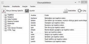 Otomatik H�zl� Yaz� Yazma Program� Ekran G�r�nt�s�